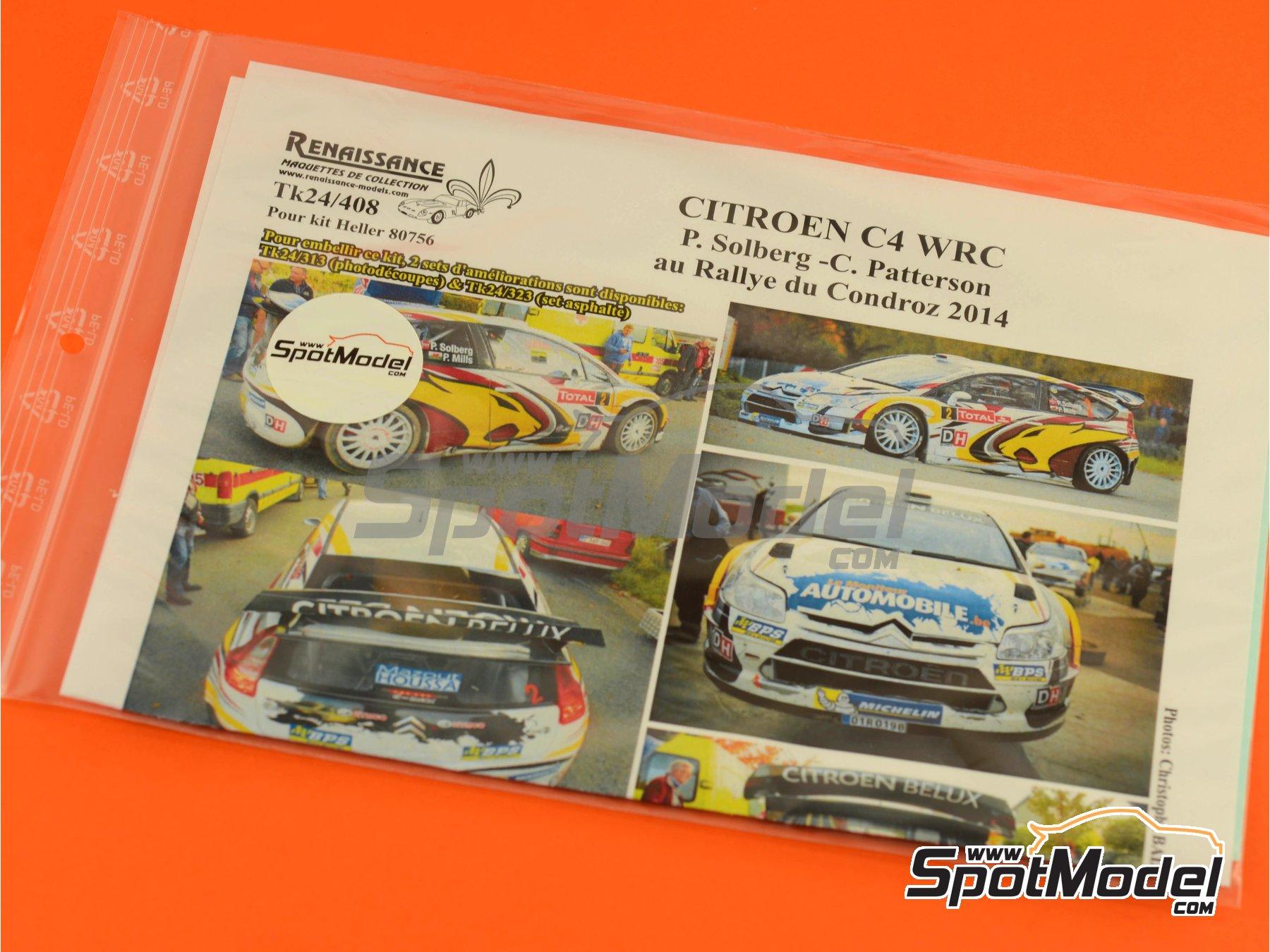 Image 2: Citroen C4 WRC Marc VDS - Rally Condroz de Bélgica 2014   Calcas de agua en escala1/24 fabricado por Renaissance Models (ref.TK24-408)