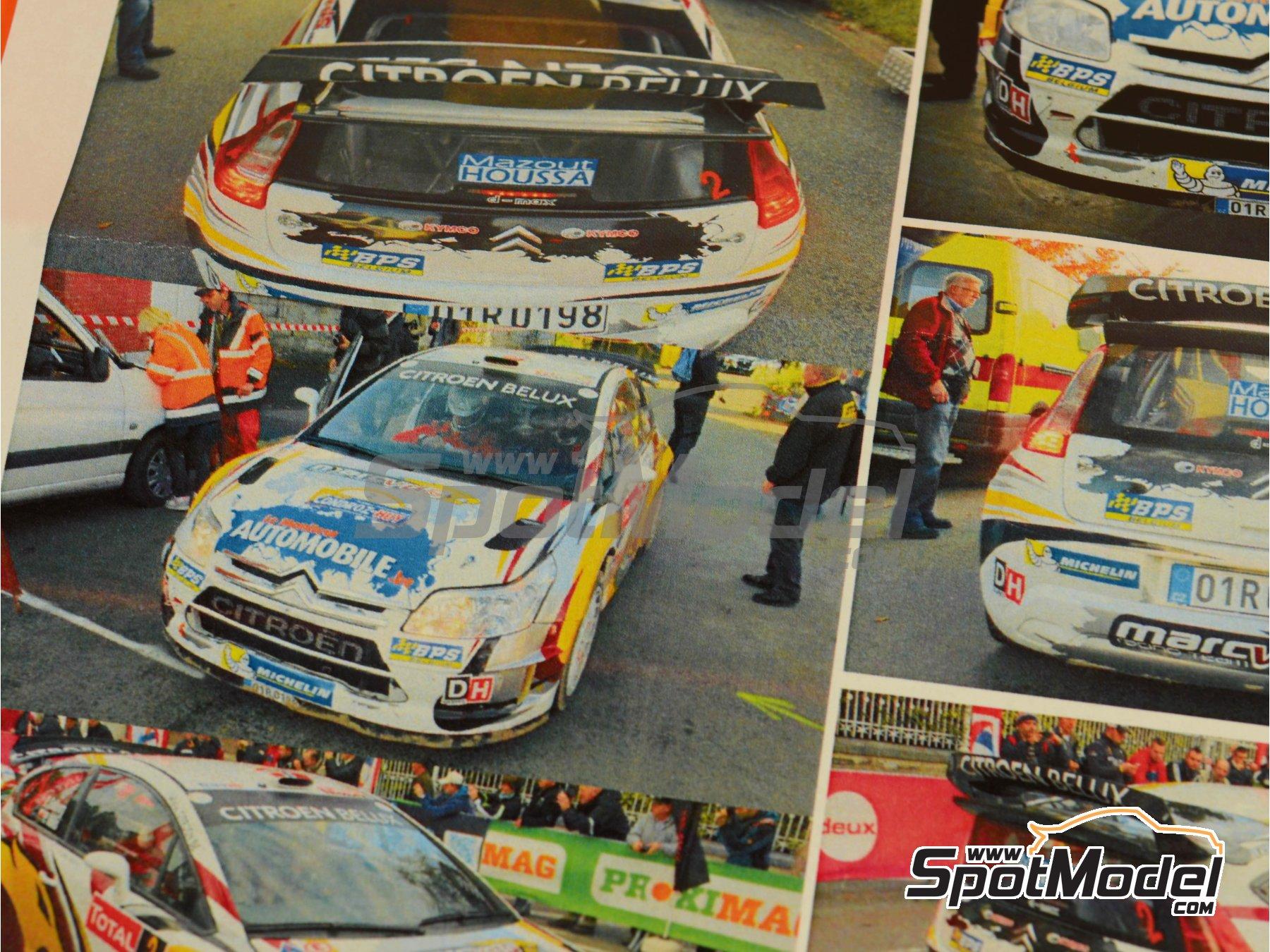 Image 9: Citroen C4 WRC Marc VDS - Rally Condroz de Bélgica 2014   Calcas de agua en escala1/24 fabricado por Renaissance Models (ref.TK24-408)