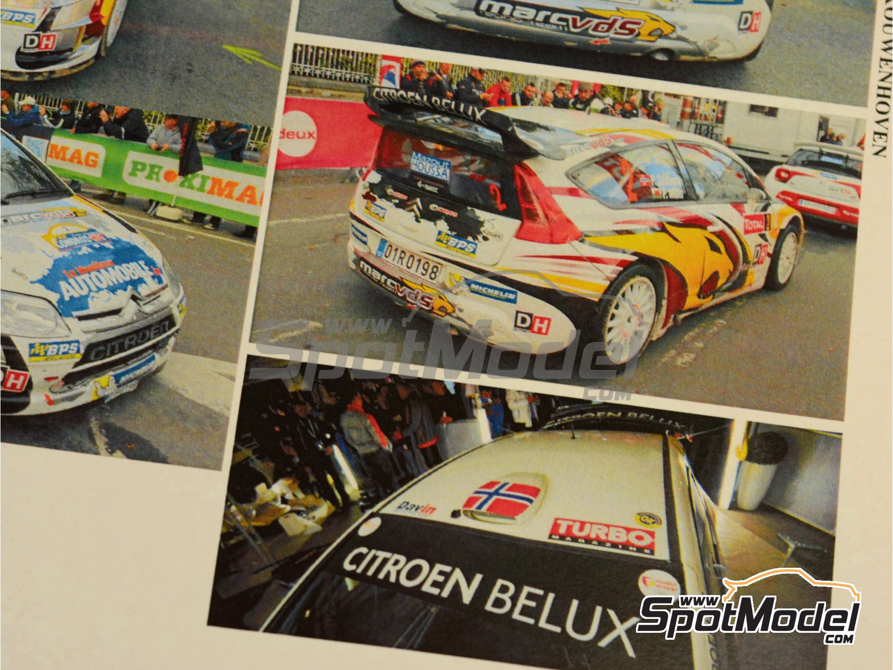 Image 10: Citroen C4 WRC Marc VDS - Rally Condroz de Bélgica 2014   Calcas de agua en escala1/24 fabricado por Renaissance Models (ref.TK24-408)