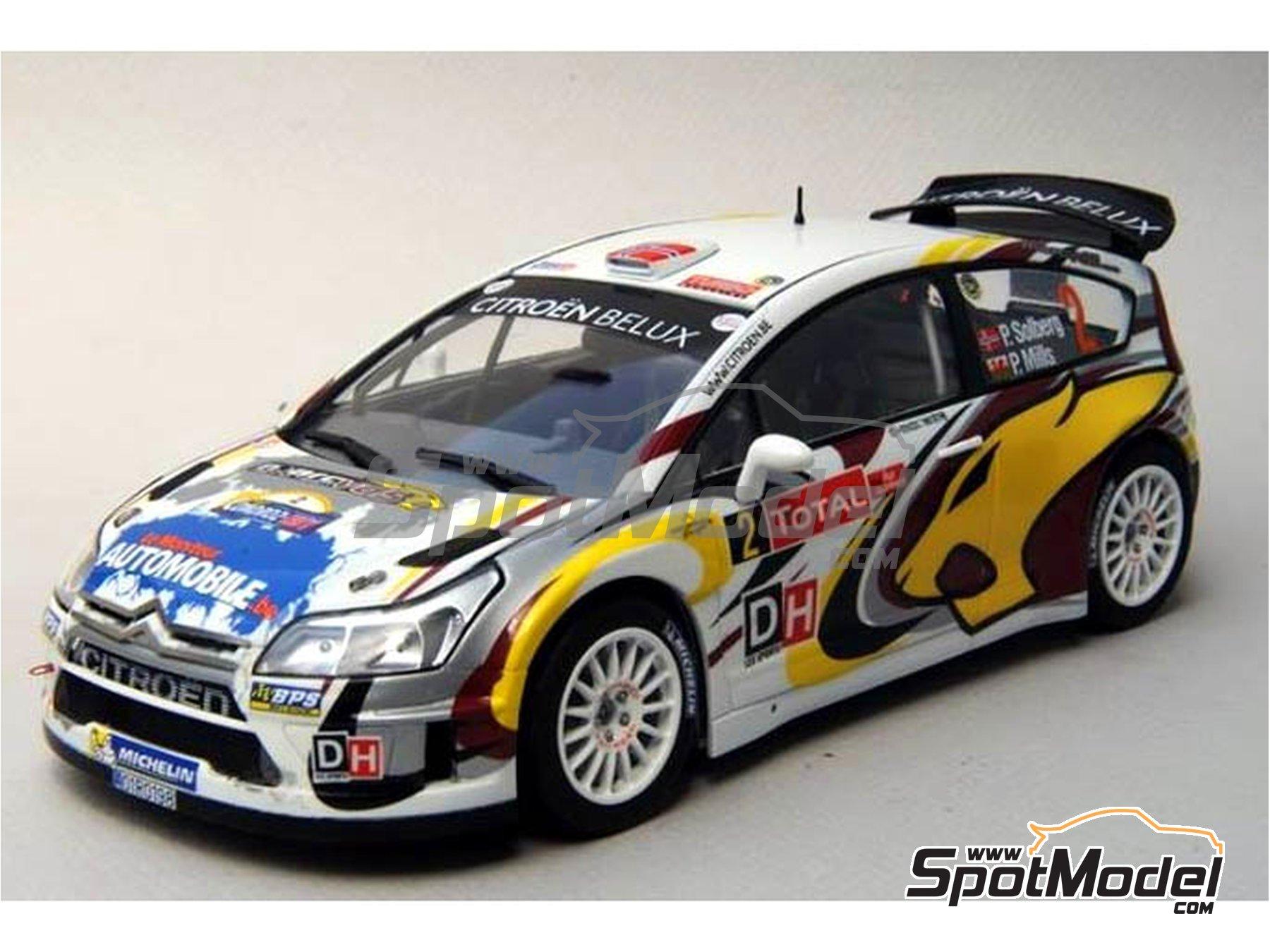 Image 11: Citroen C4 WRC Marc VDS - Rally Condroz de Bélgica 2014   Calcas de agua en escala1/24 fabricado por Renaissance Models (ref.TK24-408)