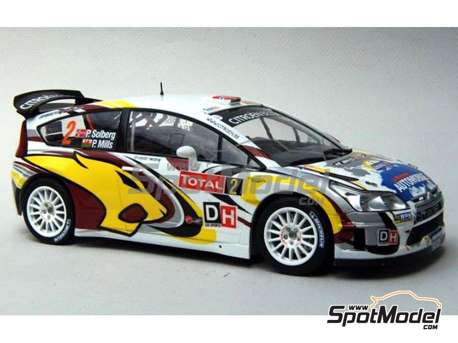 Image 13: Citroen C4 WRC Marc VDS - Rally Condroz de Bélgica 2014   Calcas de agua en escala1/24 fabricado por Renaissance Models (ref.TK24-408)