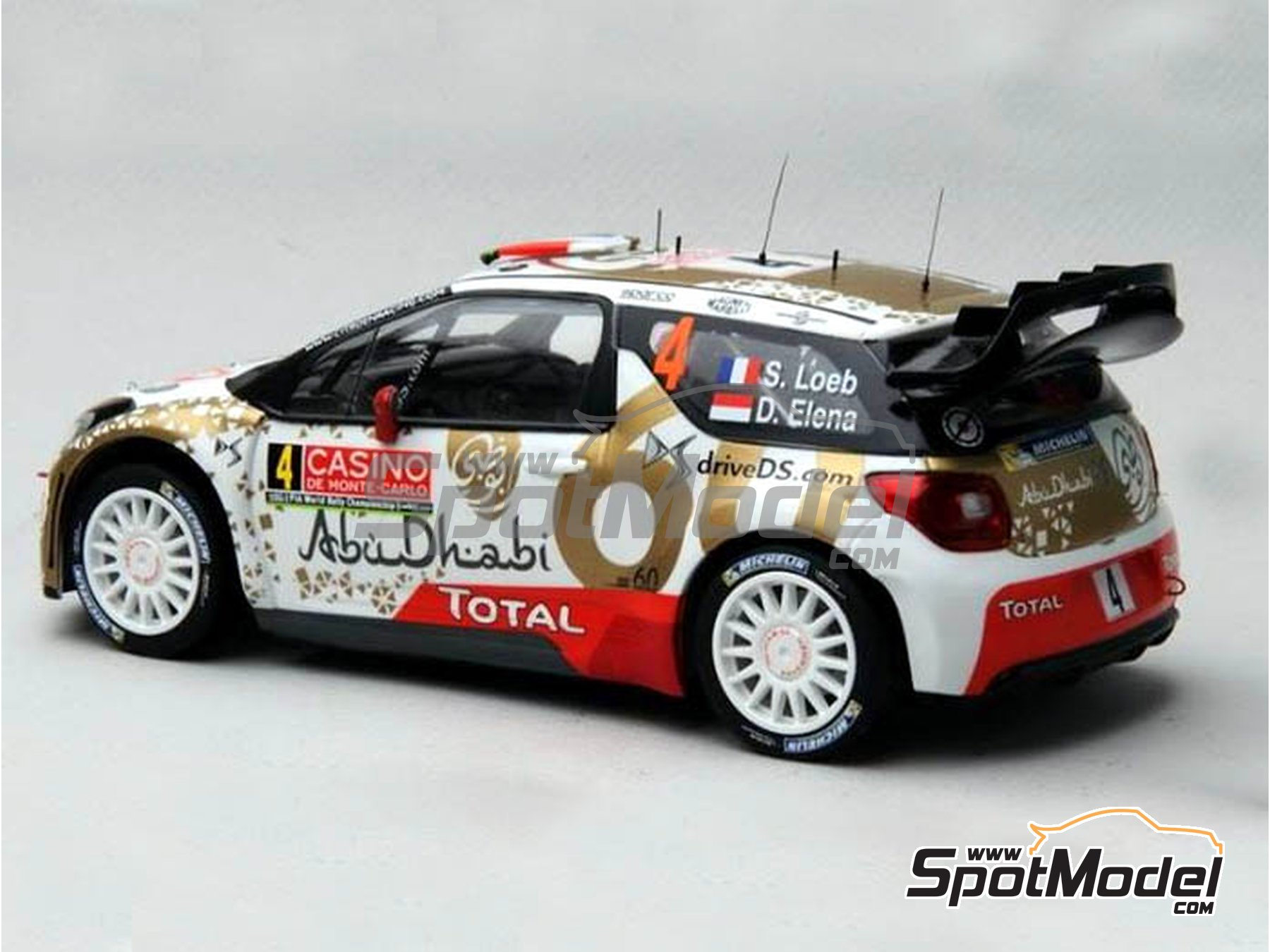 Image 14: Citroen DS3 WRC AbuDhabi - Montecarlo Rally - Rallye Automobile de Monte-Carlo 2015 | Marking / livery in 1/24 scale manufactured by Renaissance Models (ref. TK24-409)