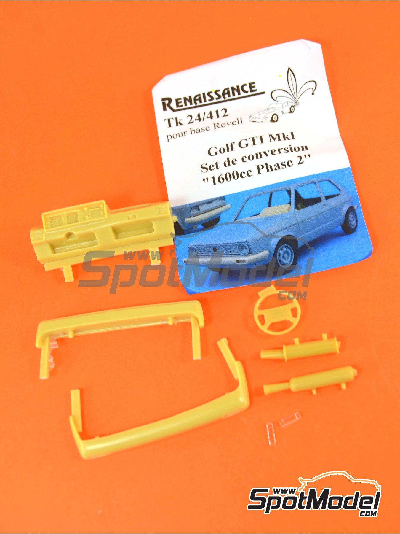 Volkswagen Golf I GTI | Transkit en escala1/24 fabricado por Renaissance Models (ref.TK24-412) image