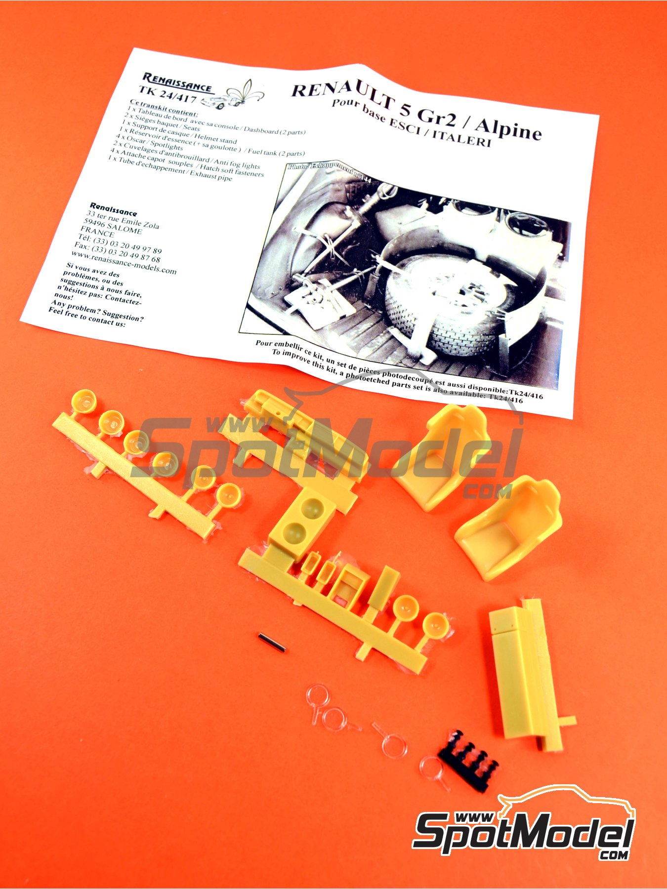 Renault 5 Alpine Group 2 | Detail up set in 1/24 scale manufactured by Renaissance Models (ref.TK24-417) image