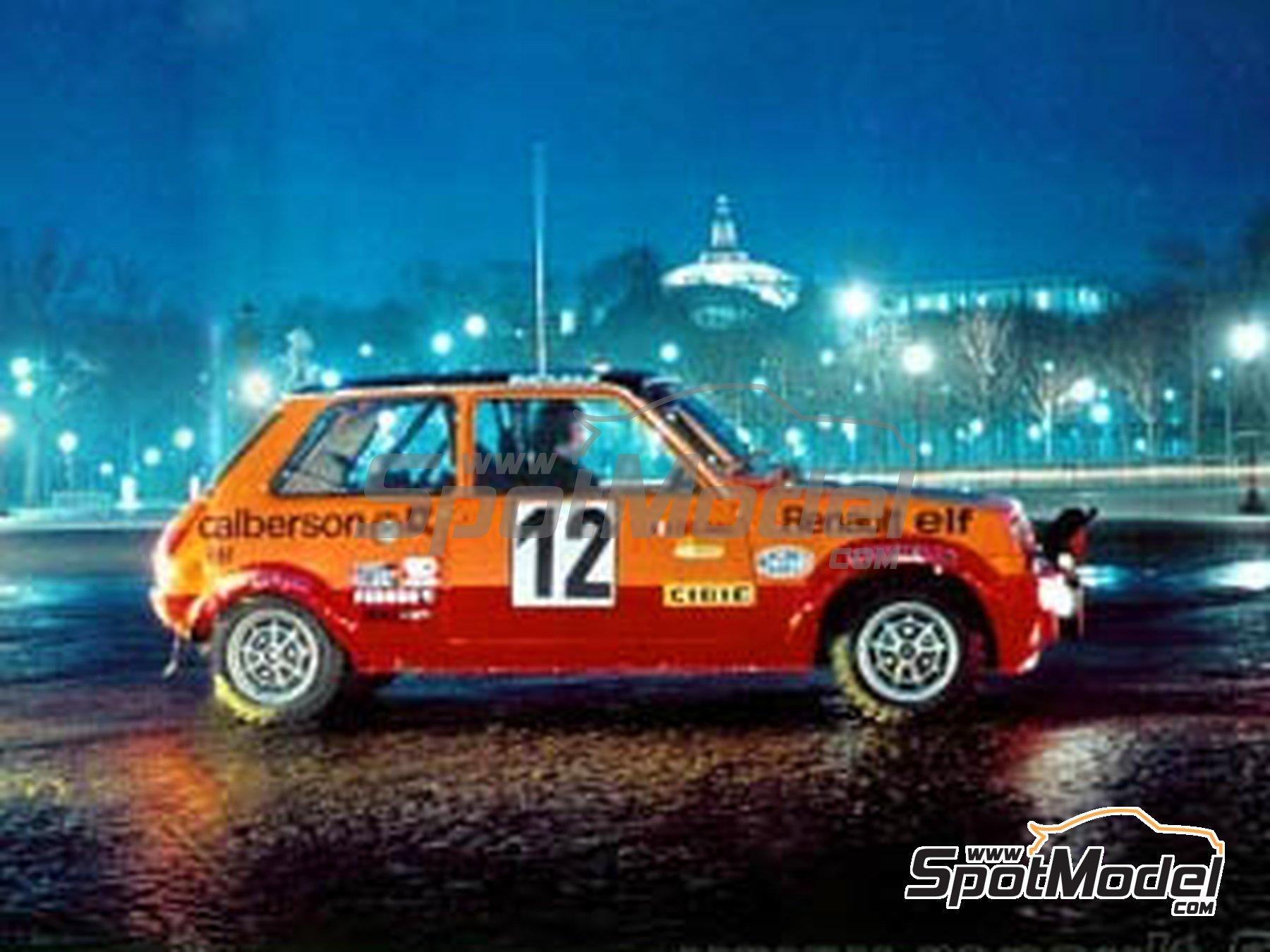 Image 1: Renault R5 Group 2 Calberson - Rally de Montecarlo 1978 | Decoración en escala1/24 fabricado por Renaissance Models (ref.TK24-423)