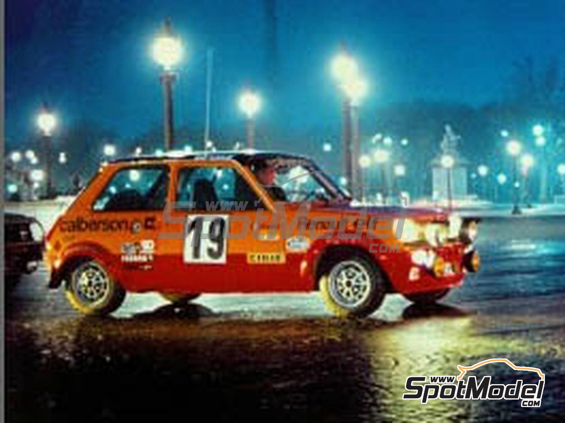 Image 2: Renault R5 Group 2 Calberson - Rally de Montecarlo 1978 | Decoración en escala1/24 fabricado por Renaissance Models (ref.TK24-423)