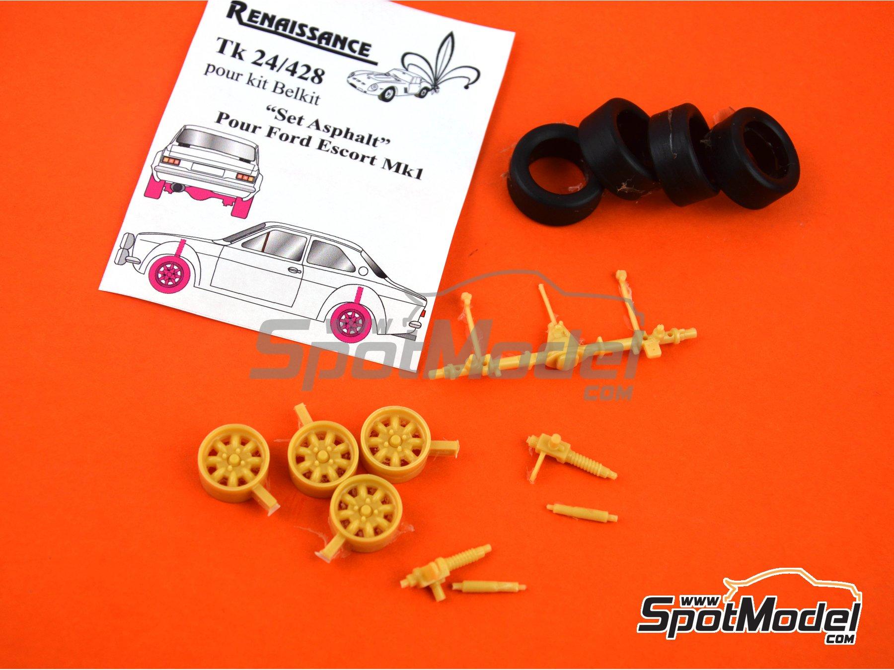Image 2: Ford Escort RS1600 Mk I | Set de conversión a asfalto en escala1/24 fabricado por Renaissance Models (ref.TK24-428)