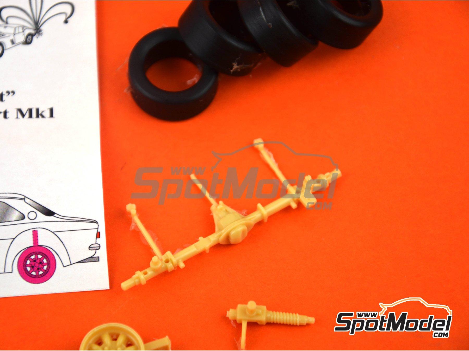 Image 4: Ford Escort RS1600 Mk I | Set de conversión a asfalto en escala1/24 fabricado por Renaissance Models (ref.TK24-428)