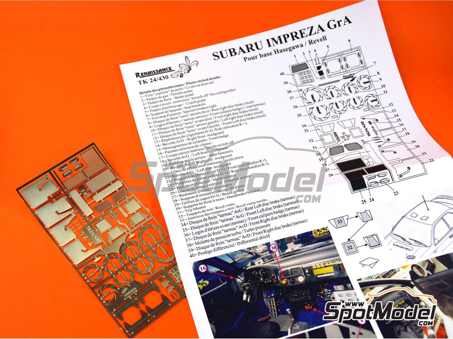 Image 4: Subaru Impreza WRX | Set de mejora y detallado en escala1/24 fabricado por Renaissance Models (ref.TK24-430)