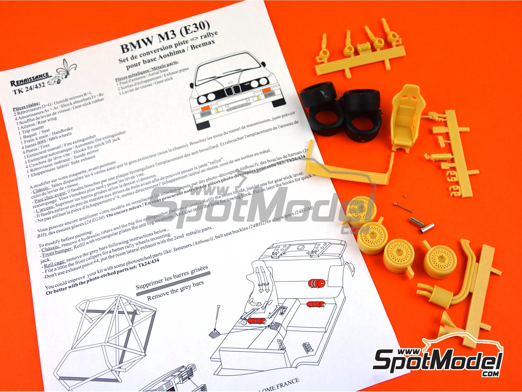 Image 6: BMW M3 E30 | Transkit in 1/24 scale manufactured by Renaissance Models (ref. TK24-432)