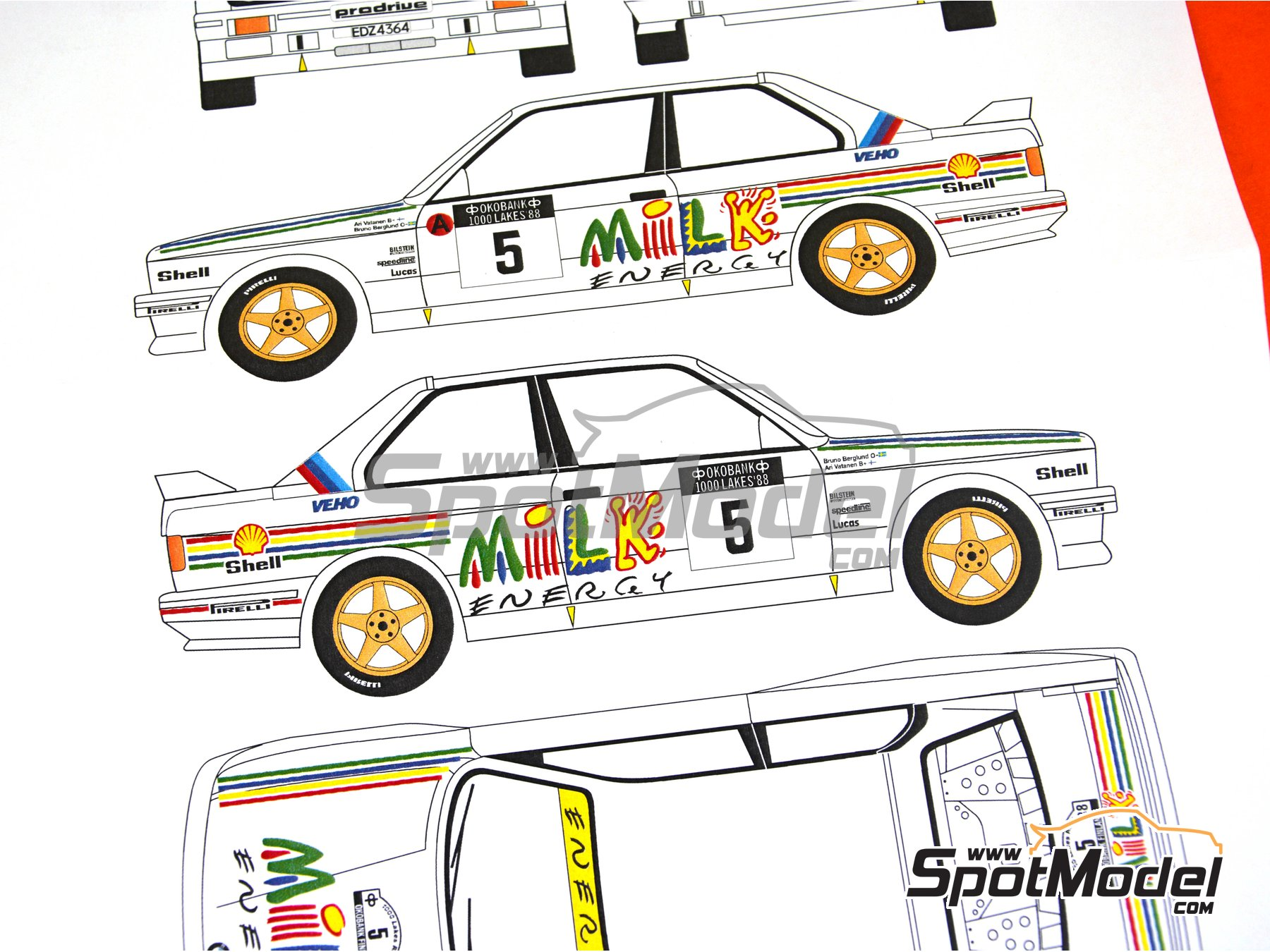 Image 4: BMW M3 E30 - 1000 Lakes Finland Rally 1988 | Marking / livery in 1/24 scale manufactured by Renaissance Models (ref. TK24-437)