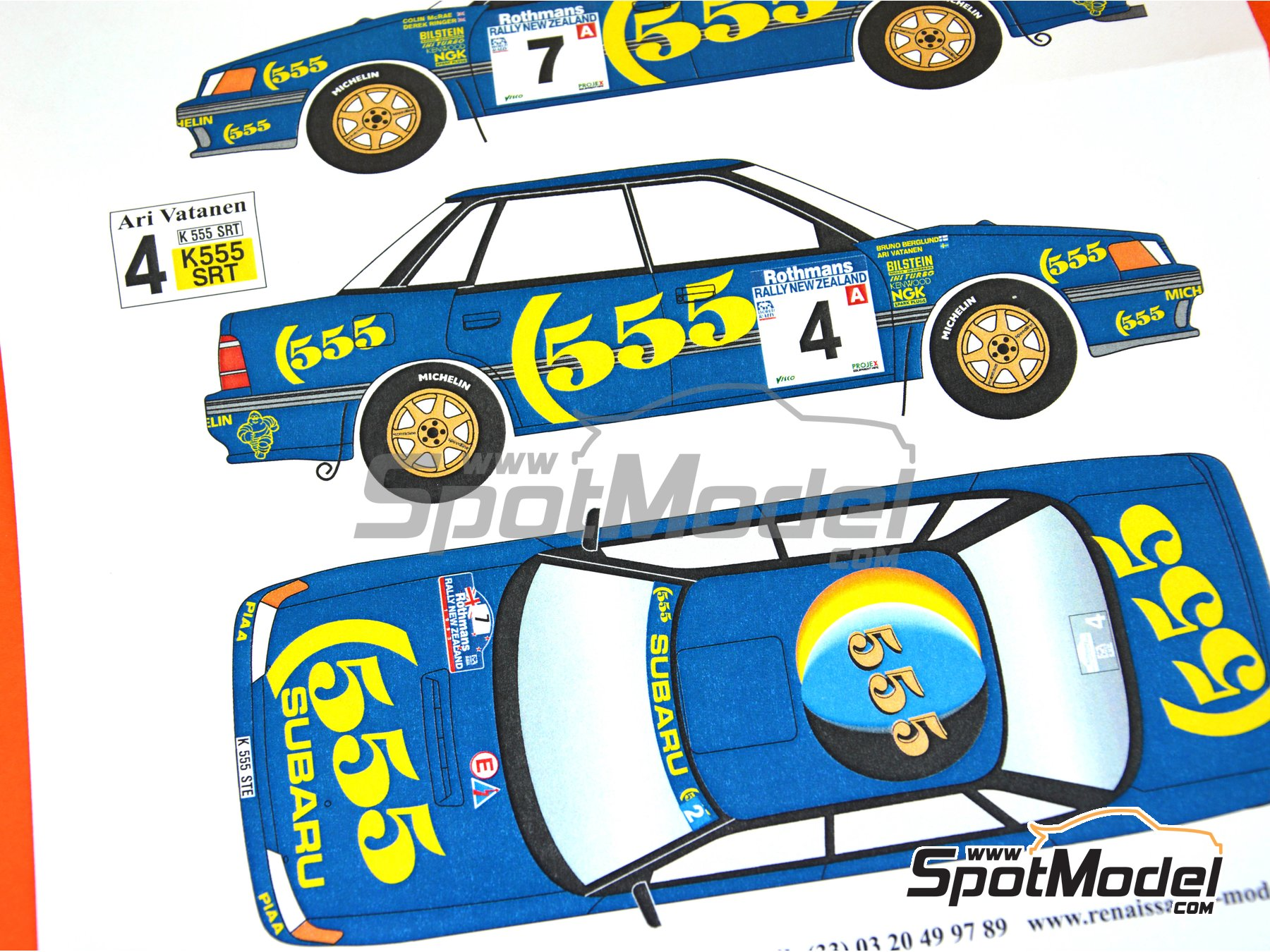 Image 6: Subaru Legacy Group A - New Zealand rally 1993 | Marking / livery in 1/24 scale manufactured by Renaissance Models (ref. TK24-439)