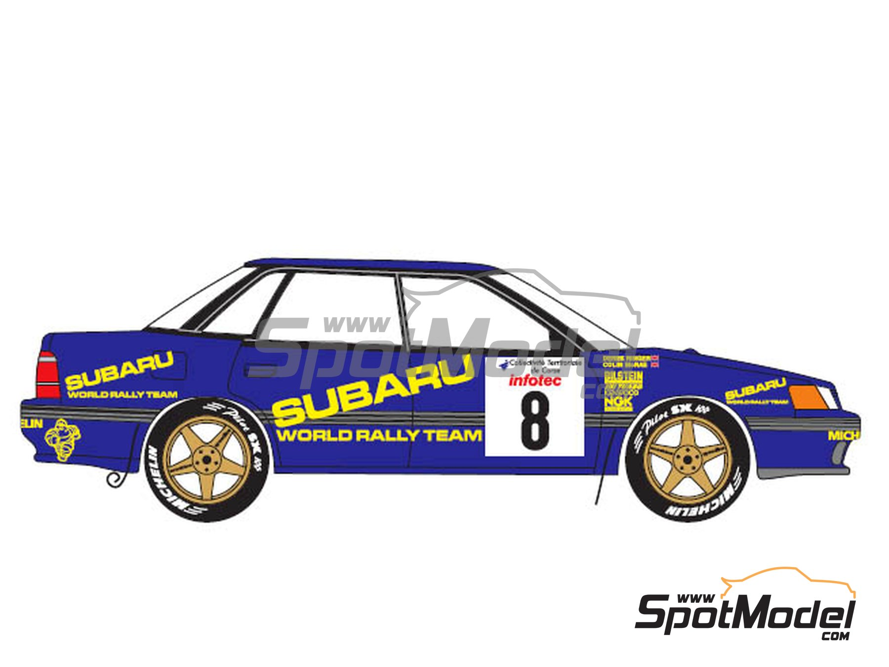 Image 3: Subaru Legacy Group A - Tour de Corse 1993 | Marking / livery in 1/24 scale manufactured by Renaissance Models (ref. TK24-440)