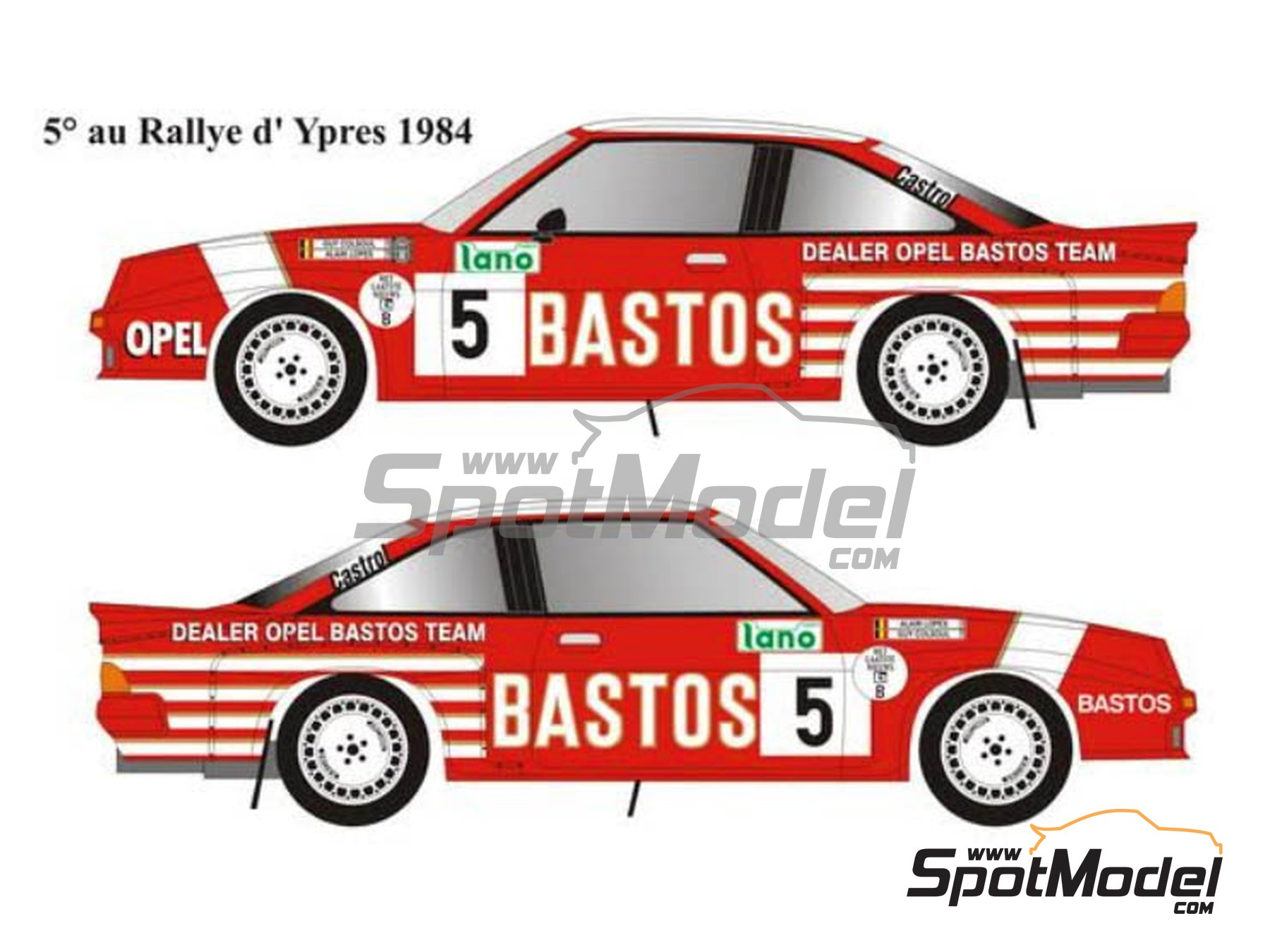 Image 1: Opel Manta 400 Group B - Condroz Rally, Ypres Rally 1984 | Marking / livery in 1/24 scale manufactured by Renaissance Models (ref. TK24-445)