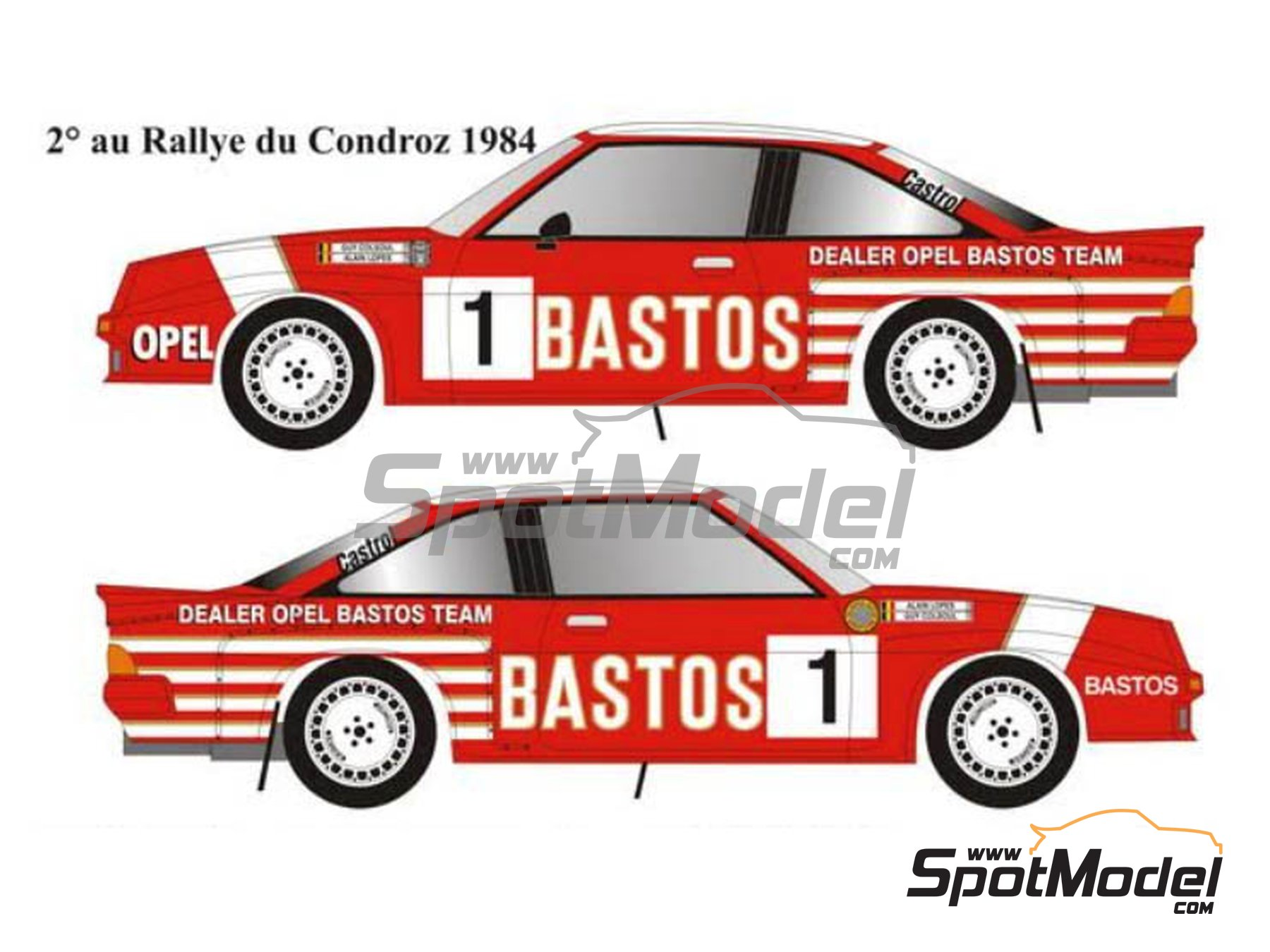 Image 2: Opel Manta 400 Group B - Condroz Rally, Ypres Rally 1984 | Marking / livery in 1/24 scale manufactured by Renaissance Models (ref. TK24-445)