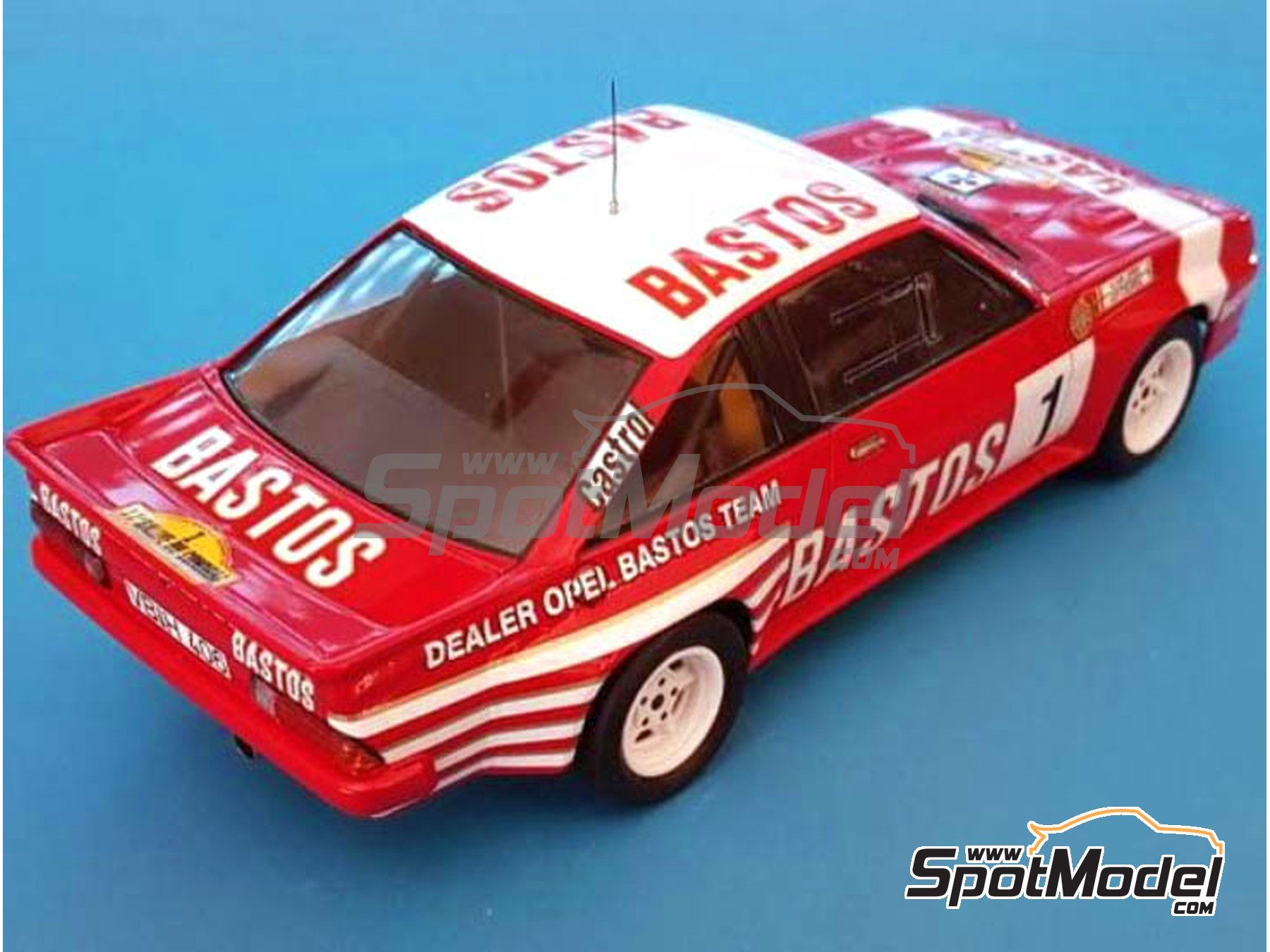 Image 9: Opel Manta 400 Group B Texaco Bastos - Condroz Rally, Ypres Rally 1986 | Marking / livery in 1/24 scale manufactured by Renaissance Models (ref. TK24-447)