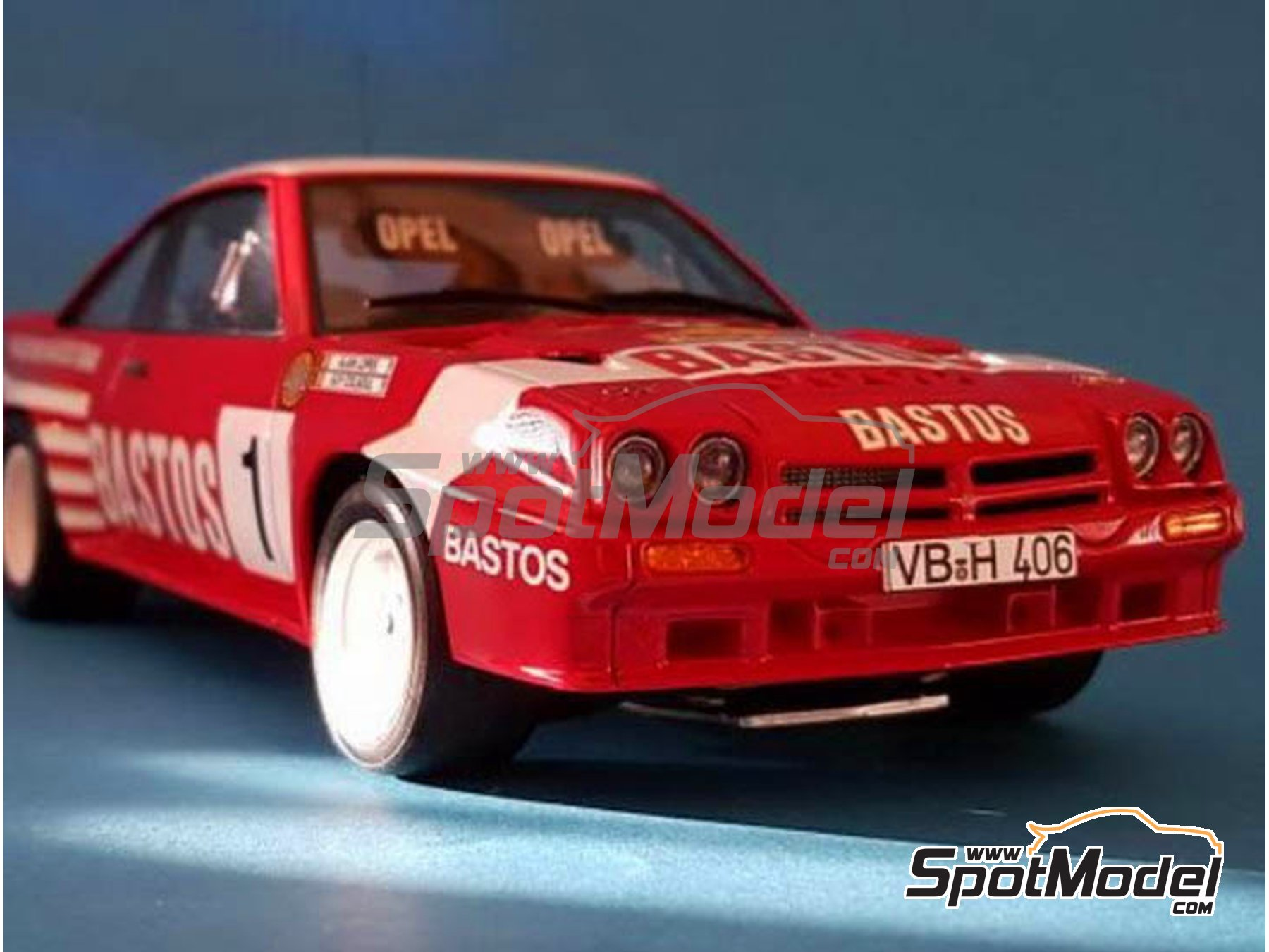 Image 10: Opel Manta 400 Group B Texaco Bastos - Condroz Rally, Ypres Rally 1986 | Marking / livery in 1/24 scale manufactured by Renaissance Models (ref. TK24-447)