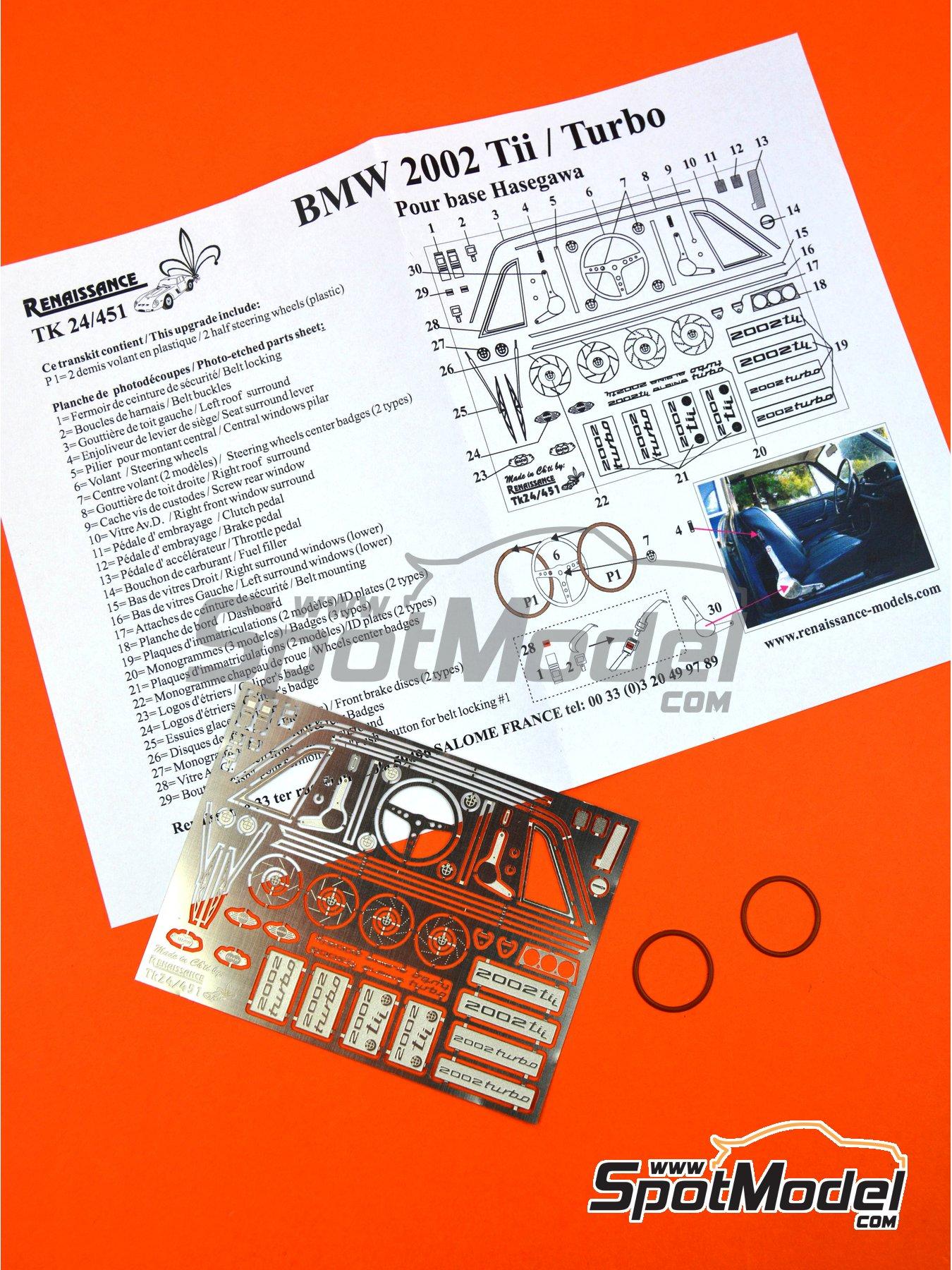 BMW 2002 Tii / Turbo | Set de mejora y detallado en escala1/24 fabricado por Renaissance Models (ref.TK24-451) image