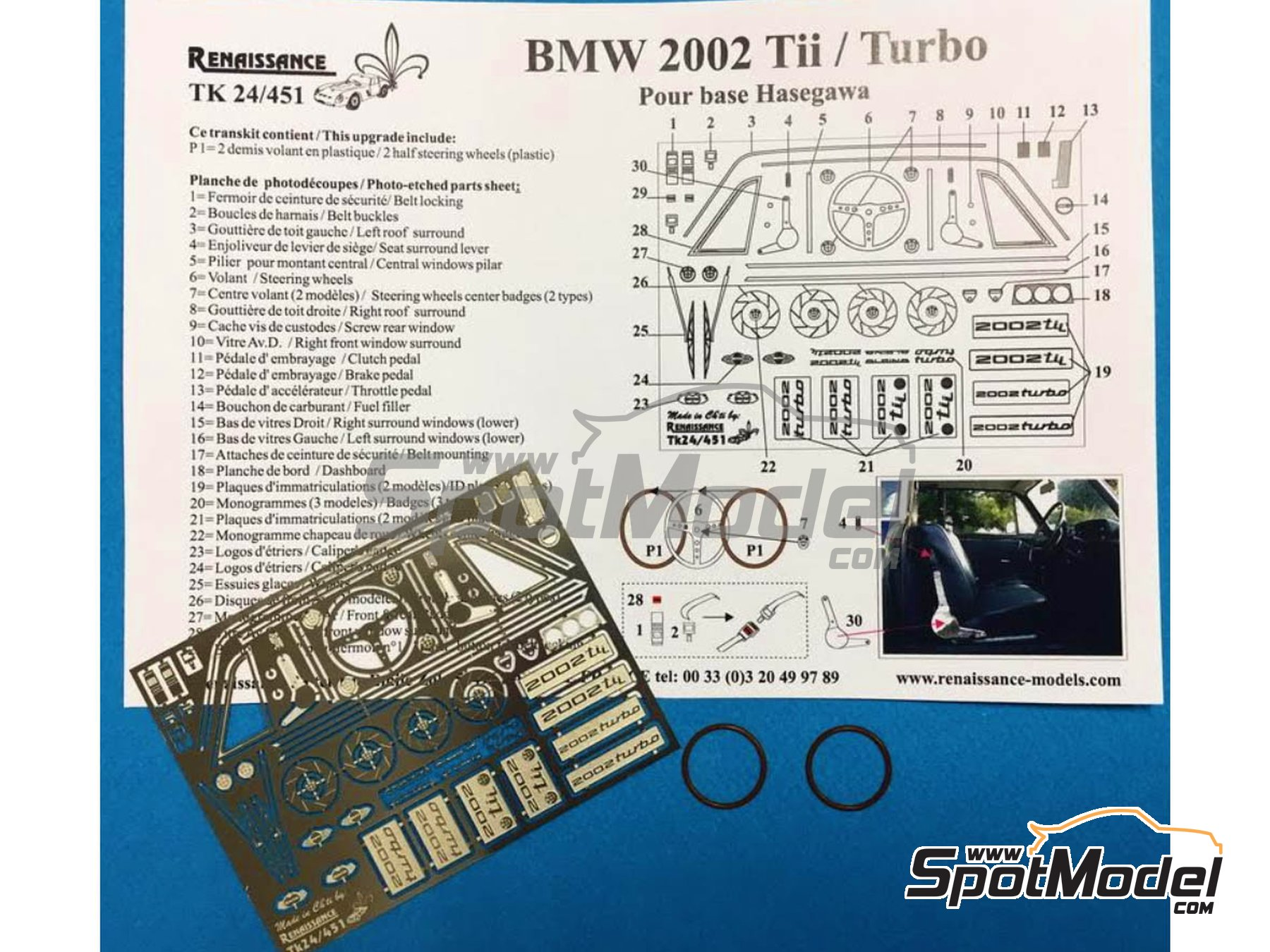 Image 1: BMW 2002 Tii / Turbo | Detail up set in 1/24 scale manufactured by Renaissance Models (ref. TK24-451)
