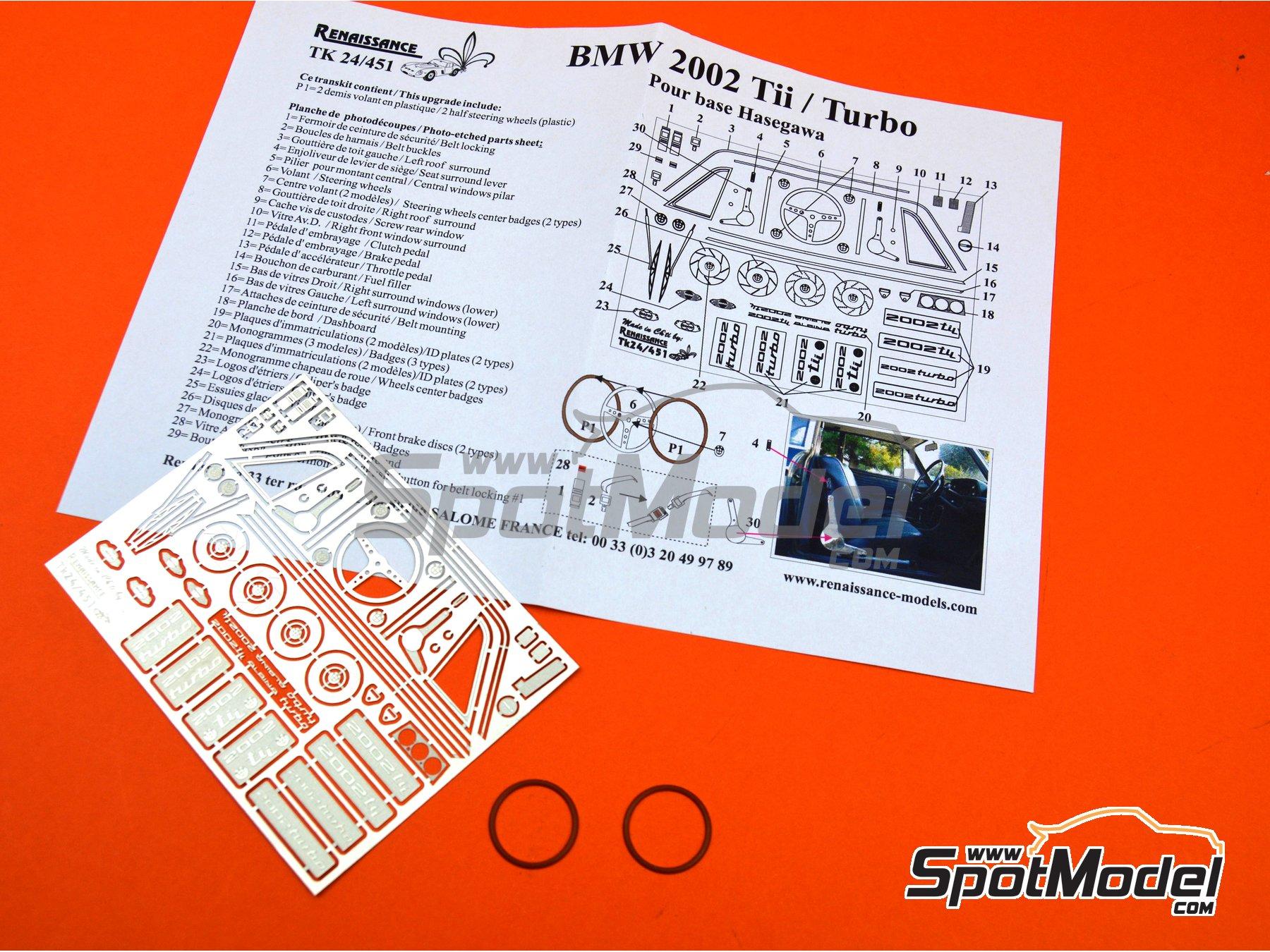 Image 6: BMW 2002 Tii / Turbo | Set de mejora y detallado en escala1/24 fabricado por Renaissance Models (ref.TK24-451)
