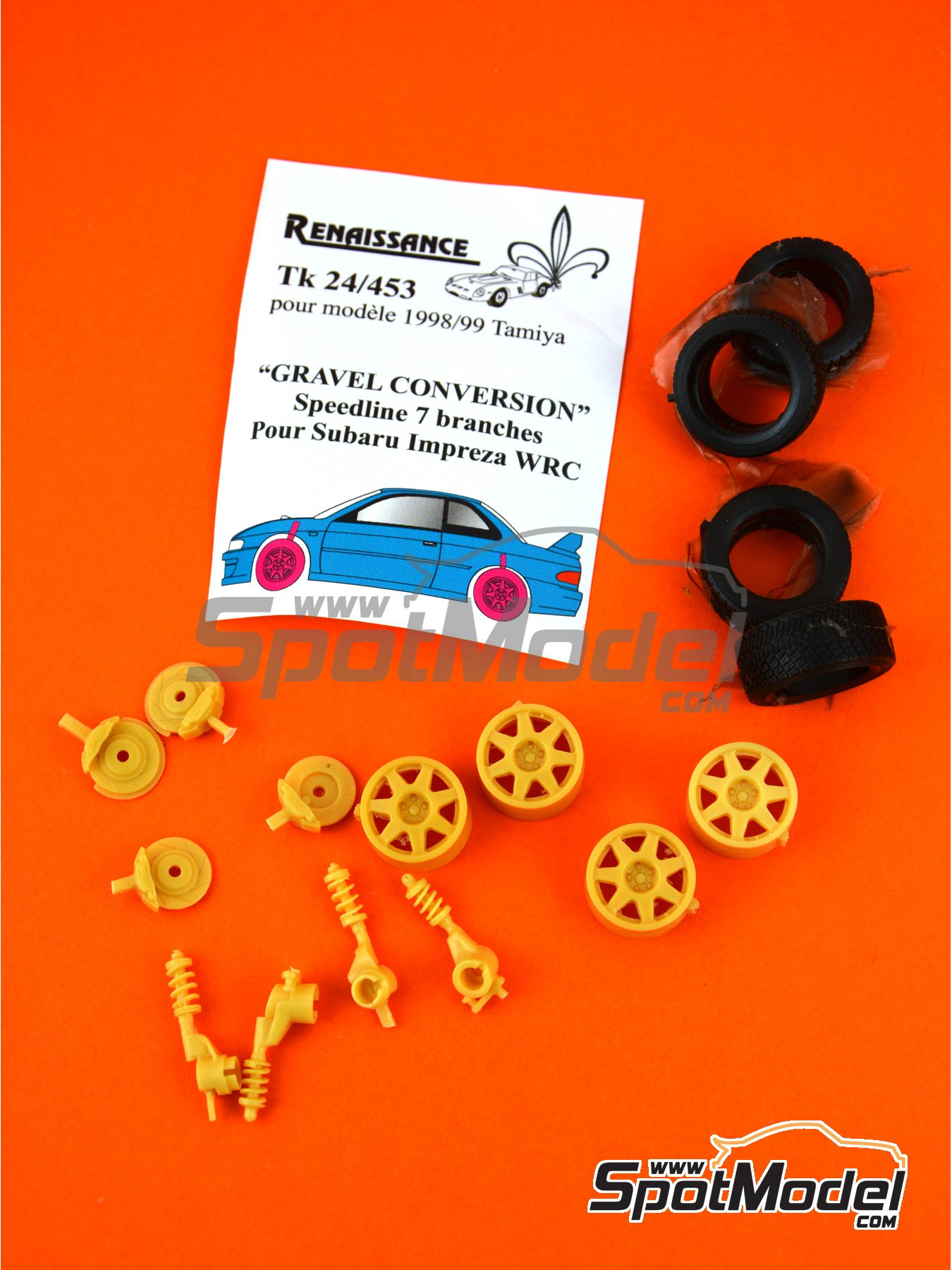 Speedline 7 radios -  1998 y 1999 | Gravel set-up en escala 1/24 fabricado por Renaissance Models (ref. TK24-453) image