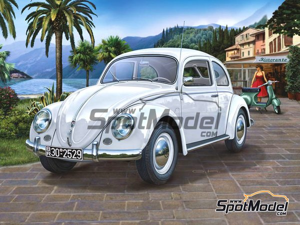 Image 1: Volkswagen Beetle Käfer Type 1 -  1951 and 1952 | Model car kit in 1/16 scale manufactured by Revell (ref. REV00450)
