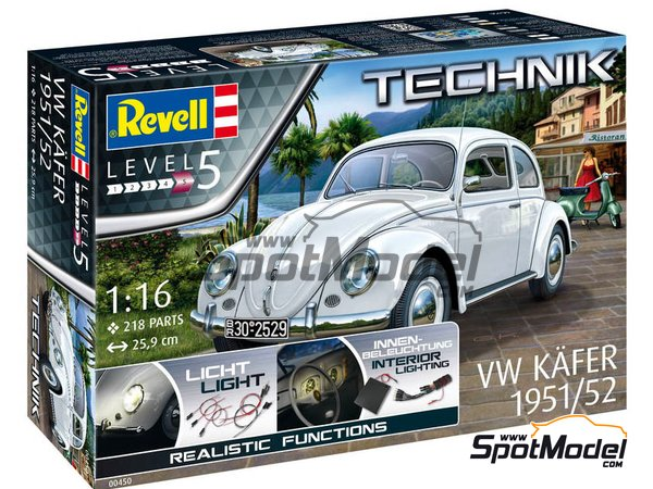 Image 2: Volkswagen Beetle Käfer Type 1 -  1951 and 1952 | Model car kit in 1/16 scale manufactured by Revell (ref. REV00450)
