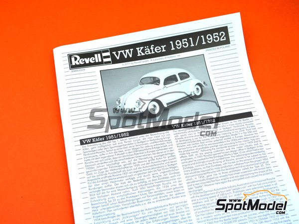 Image 3: Volkswagen Beetle Käfer Type 1 -  1951 and 1952 | Model car kit in 1/16 scale manufactured by Revell (ref. REV00450)