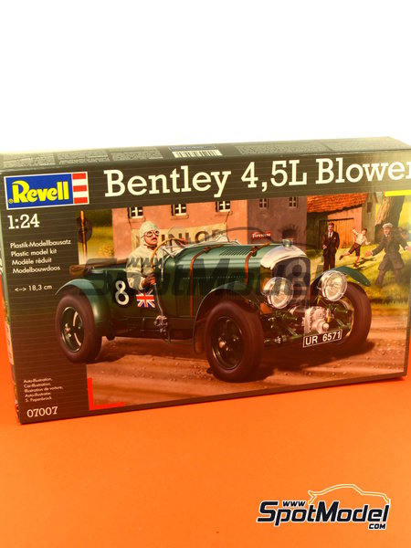 Bentley 4.5L Blower - 24 Hours Le Mans 1930 | Model car kit in 1/24 scale manufactured by Revell (ref.REV07007, also 07007 and 80-7007) image