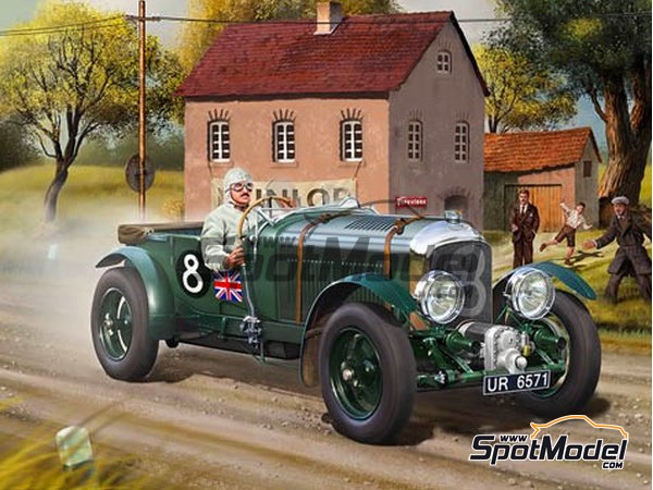 Image 1: Bentley 4.5L Blower - 24 Hours Le Mans 1930 | Model car kit in 1/24 scale manufactured by Revell (ref.REV07007, also 07007 and 80-7007)