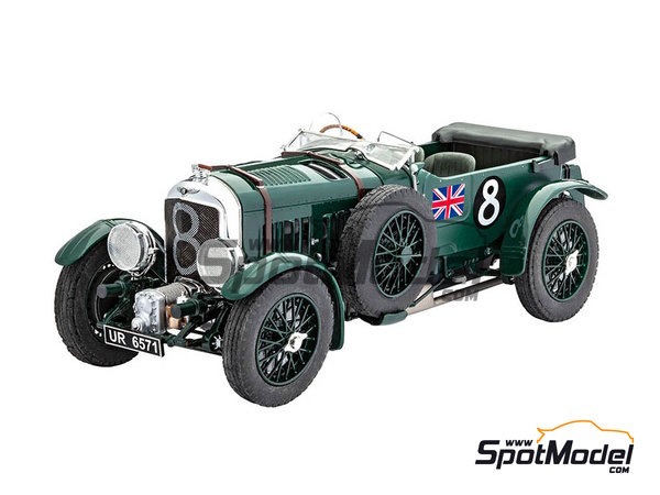 Image 2: Bentley 4.5L Blower - 24 Hours Le Mans 1930 | Model car kit in 1/24 scale manufactured by Revell (ref.REV07007, also 07007 and 80-7007)