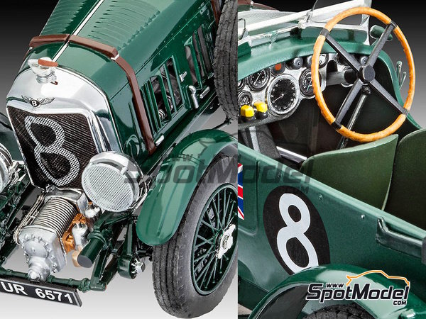 Image 4: Bentley 4.5L Blower - 24 Hours Le Mans 1930 | Model car kit in 1/24 scale manufactured by Revell (ref.REV07007, also 07007 and 80-7007)