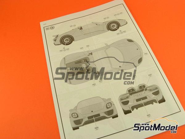 Image 22: Porsche 918 Spyder | Maqueta de coche en escala1/24 fabricado por Revell (ref.REV07026, tambien 07026 y 80-7026)