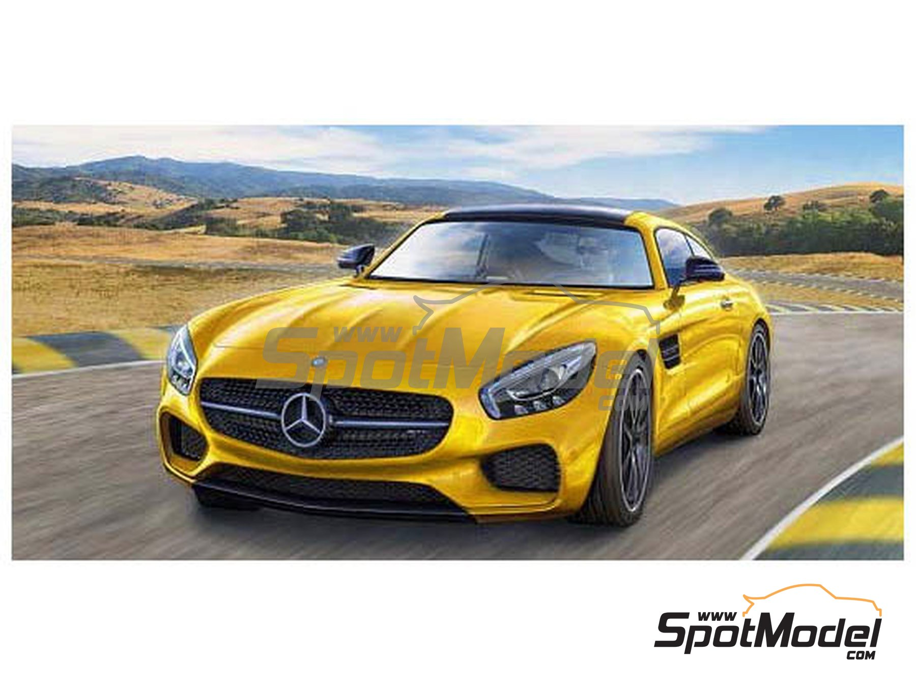 Image 1: Mercedes Benz AMG GT | Model car kit in 1/24 scale manufactured by Revell (ref. REV07028)