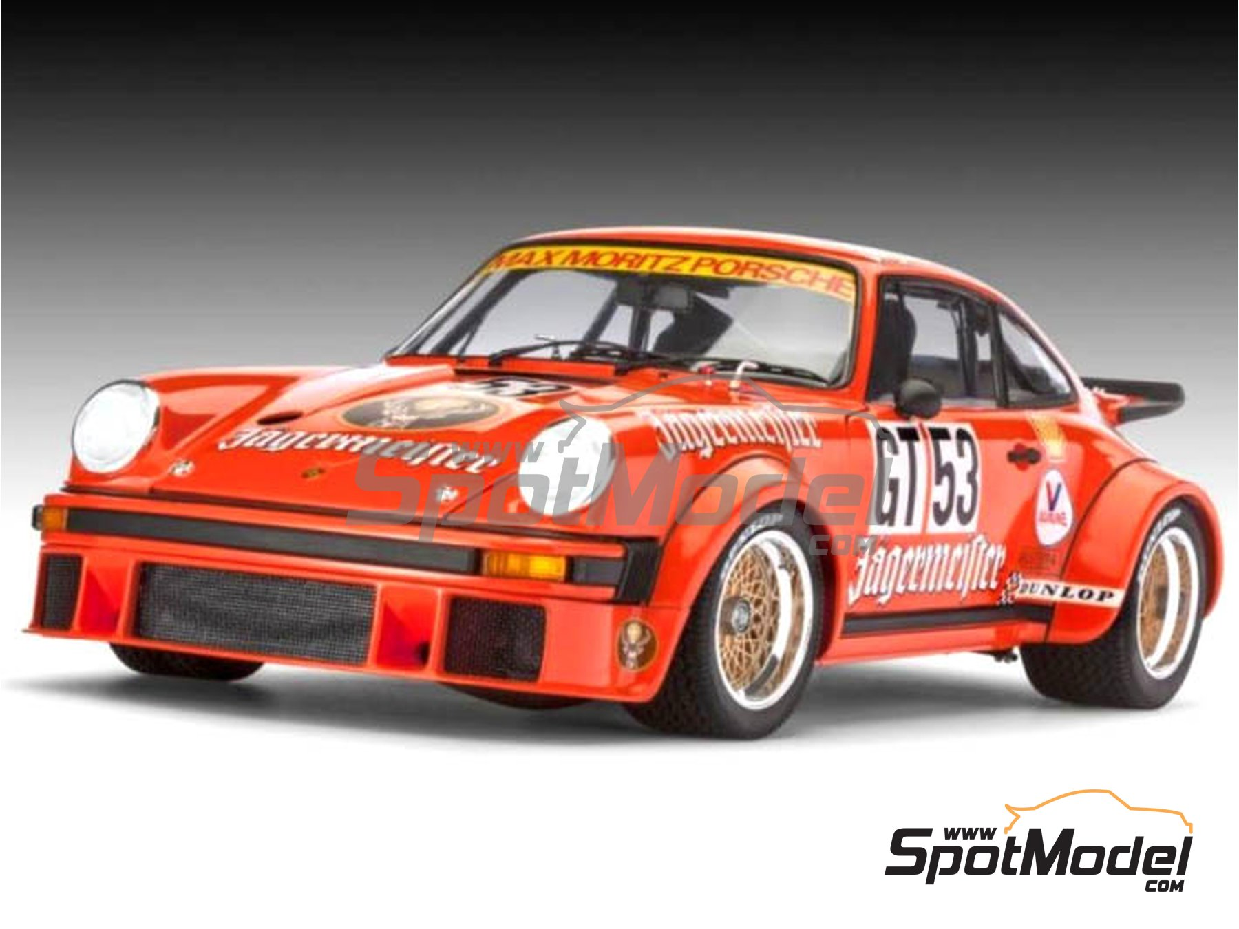 Image 1: Porsche 934 Turbo RSR Group 4 Jägermeister - European GT Championship | Model car kit in 1/24 scale manufactured by Revell (ref. REV07031)