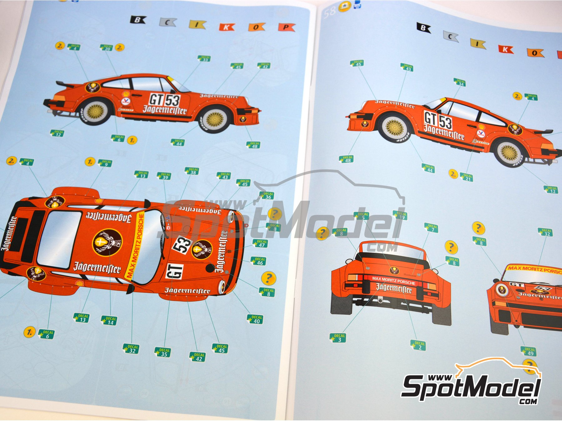 Image 21: Porsche 934 Turbo RSR Group 4 Jägermeister - European GT Championship | Model car kit in 1/24 scale manufactured by Revell (ref. REV07031)