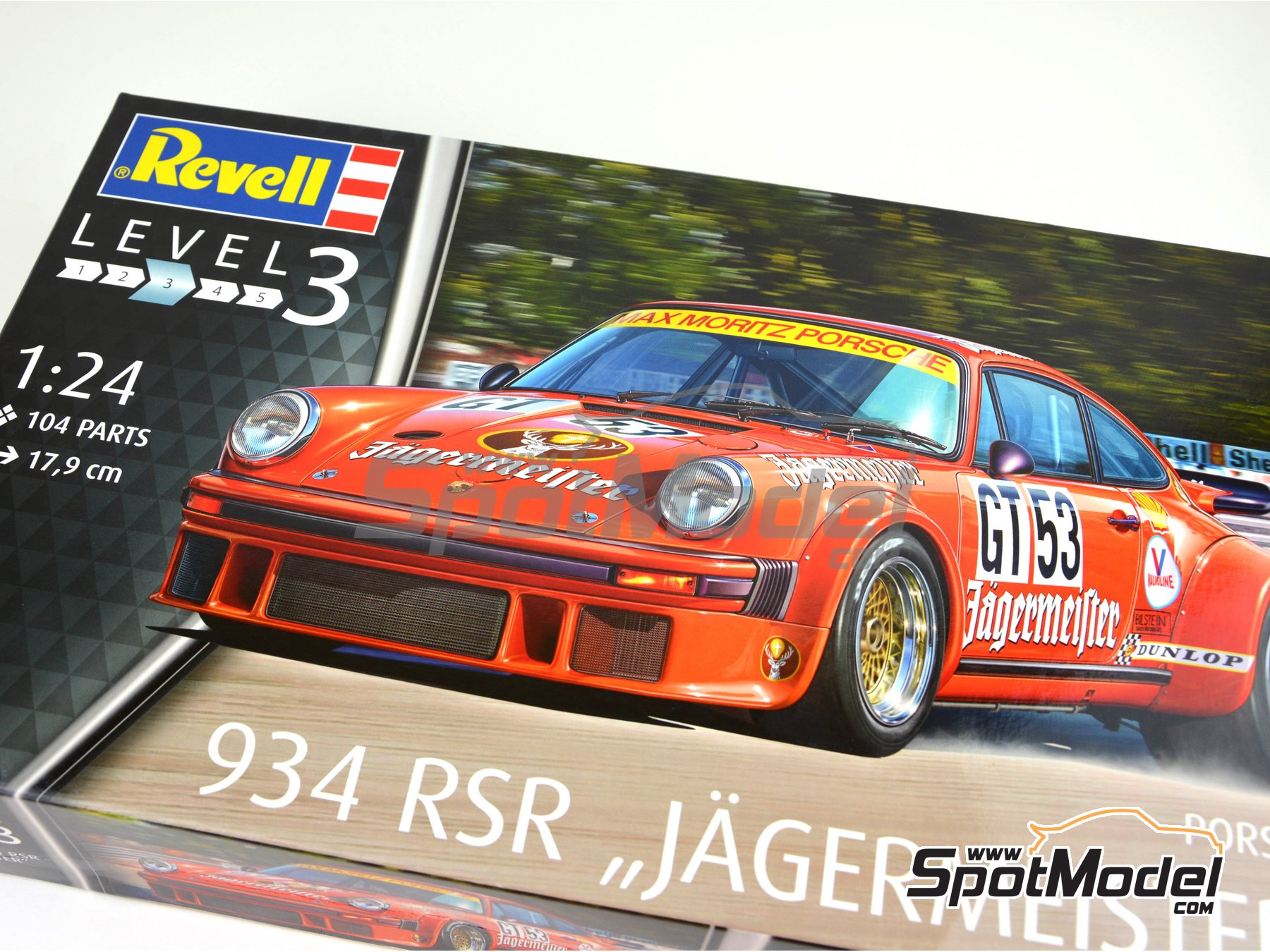 Image 23: Porsche 934 Turbo RSR Group 4 Jägermeister - European GT Championship | Model car kit in 1/24 scale manufactured by Revell (ref. REV07031)