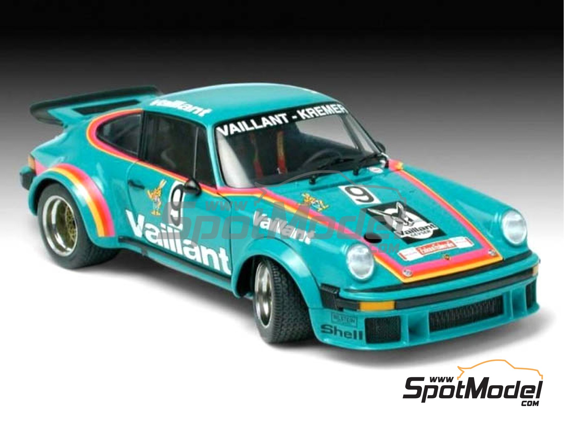 Image 1: Porsche 934 Turbo RSR Group 4 Vaillant Kremer - European GT Championship | Model car kit in 1/24 scale manufactured by Revell (ref. REV07032, also 07032)