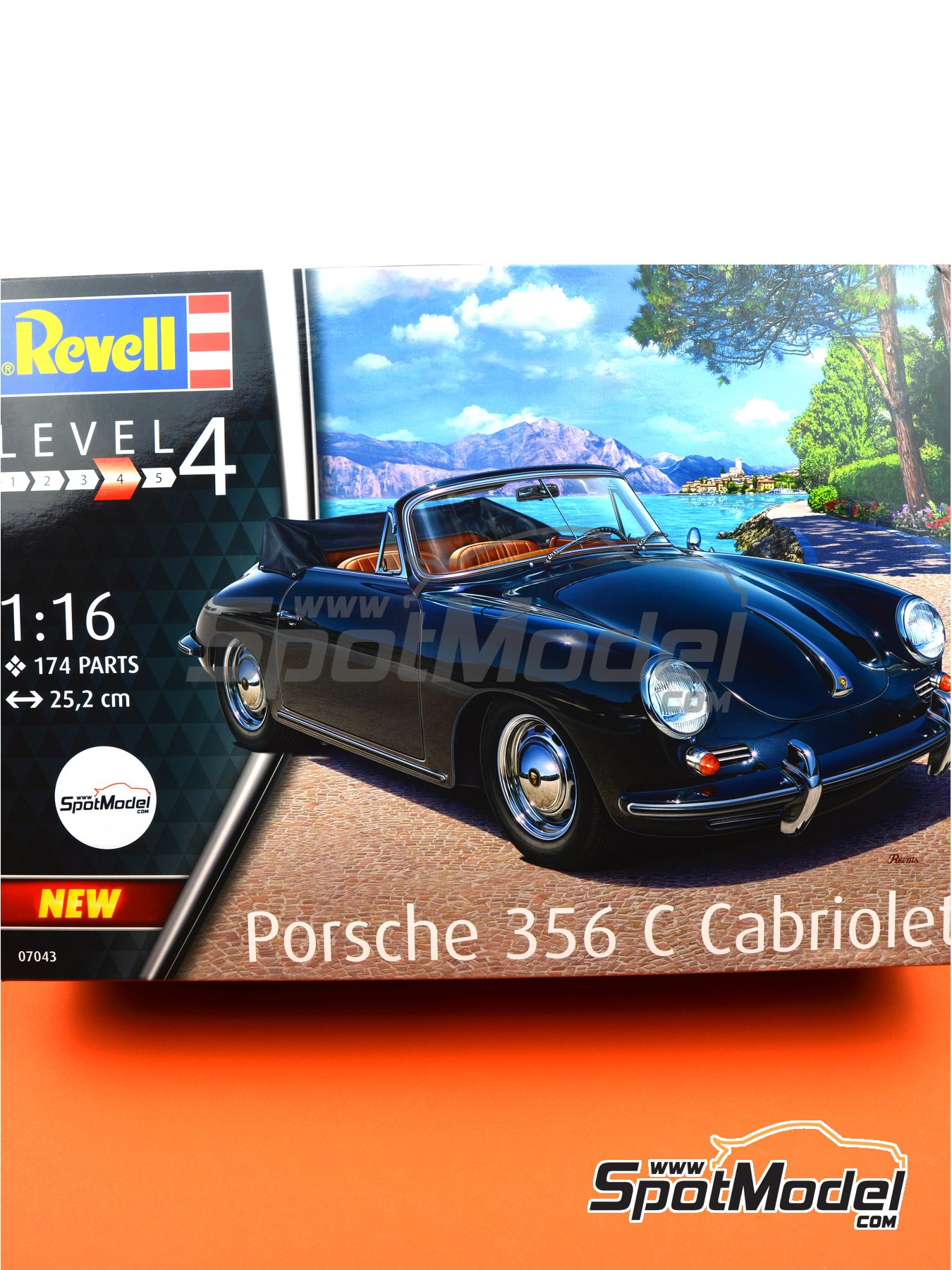 Porsche 356 Cabriolet | Model car kit in 1/16 scale manufactured by Revell (ref. REV07043) image