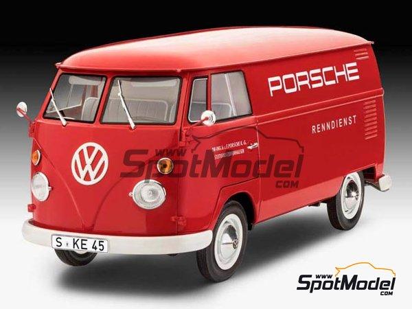Image 3: Volkswagen Transporter  T1 Kastenwagen Porsche Renndienst | Model van kit in 1/16 scale manufactured by Revell (ref.REV07049, also 07049, REV7049 and 4009803070490)