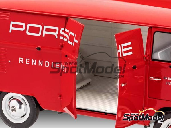 Image 5: Volkswagen Transporter  T1 Kastenwagen Porsche Renndienst | Model van kit in 1/16 scale manufactured by Revell (ref.REV07049, also 07049, REV7049 and 4009803070490)
