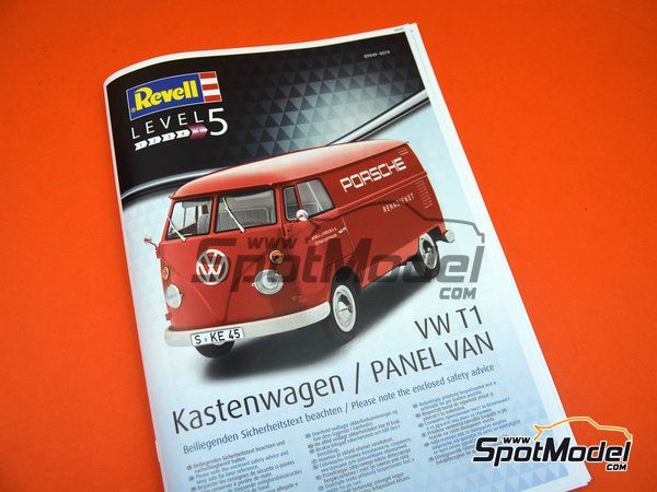 Image 19: Volkswagen Transporter  T1 Kastenwagen Porsche Renndienst | Model van kit in 1/16 scale manufactured by Revell (ref.REV07049, also 07049, REV7049 and 4009803070490)