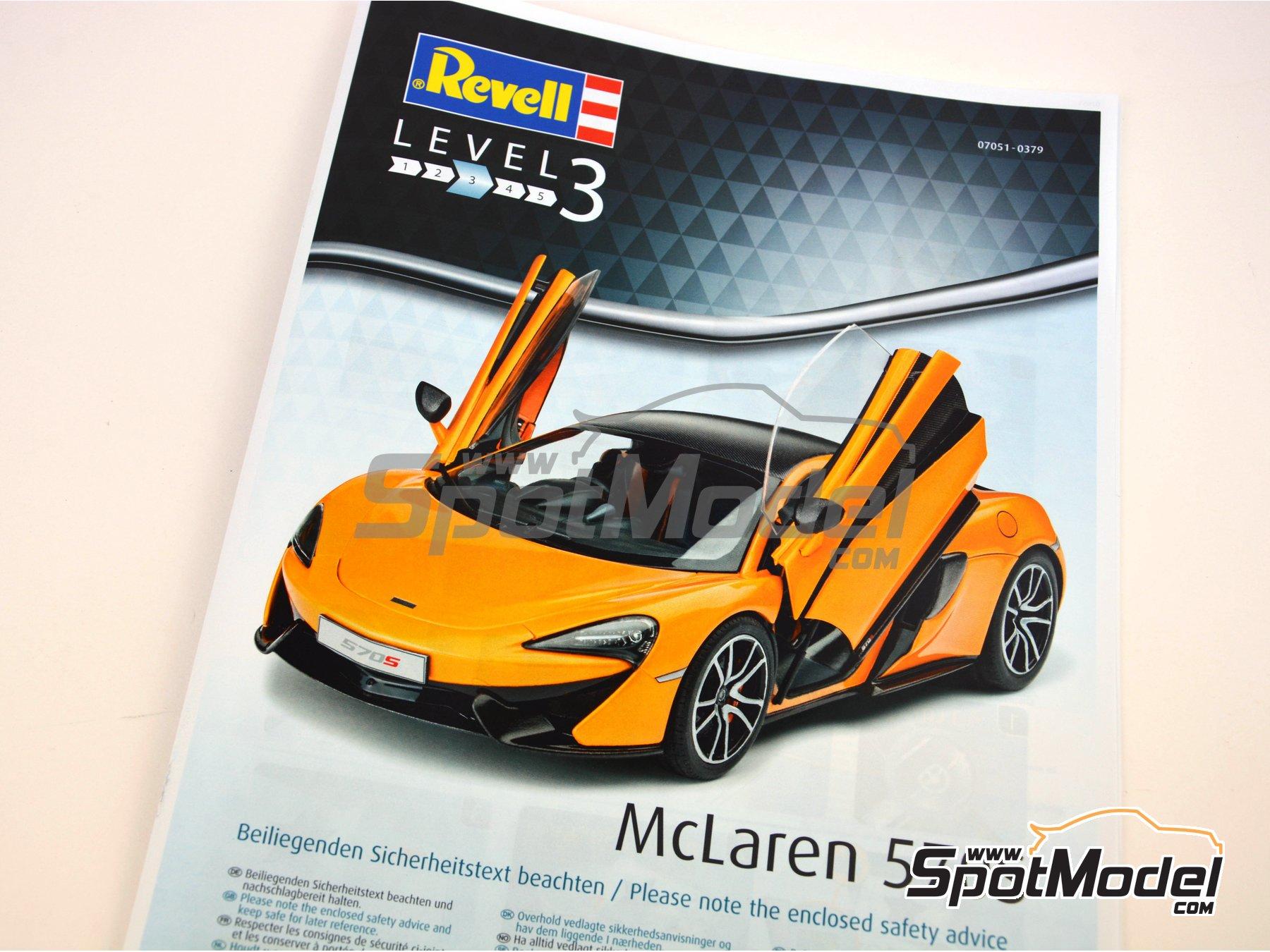 Image 8: McLaren 570S | Maqueta de coche en escala1/24 fabricado por Revell (ref.REV07051)