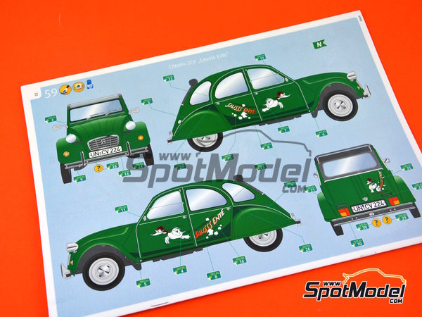 Image 14: Citroën 2CV Sausss Ente | Model car kit in 1/24 scale manufactured by Revell (ref.REV07053)