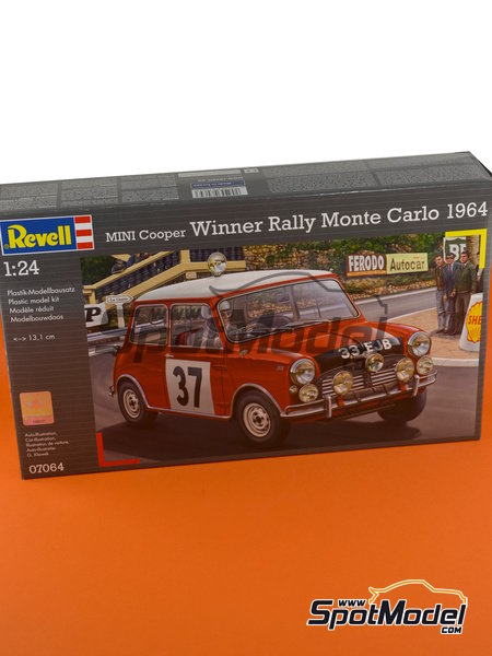 Mini Cooper Mk. I - Montecarlo Rally 1964 | Model car kit in 1/24 scale manufactured by Revell (ref.REV07064) image