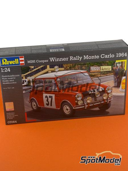 Mini Cooper Mk. I - Rally de Montecarlo 1964 | Maqueta de coche en escala1/24 fabricado por Revell (ref.REV07064) image