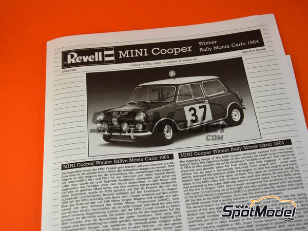 Image 19: Mini Cooper Mk. I - Montecarlo Rally 1964 | Model car kit in 1/24 scale manufactured by Revell (ref.REV07064)