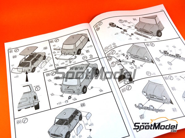 Image 22: Mini Cooper Mk. I - Rally de Montecarlo 1964 | Maqueta de coche en escala1/24 fabricado por Revell (ref.REV07064)