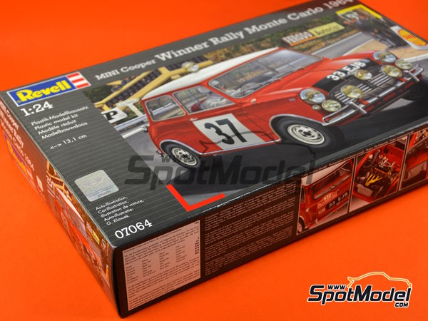 Image 24: Mini Cooper Mk. I - Montecarlo Rally 1964 | Model car kit in 1/24 scale manufactured by Revell (ref.REV07064)