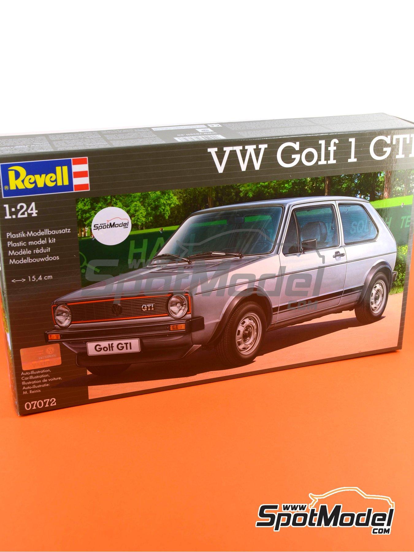 Volkswagen Golf I GTI | Maqueta de coche en escala1/24 fabricado por Revell (ref.REV07072, tambien 07072 y 80-7072) image